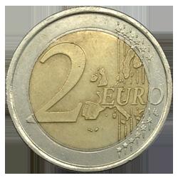 Монеты по 2 евро 10 тенге2006